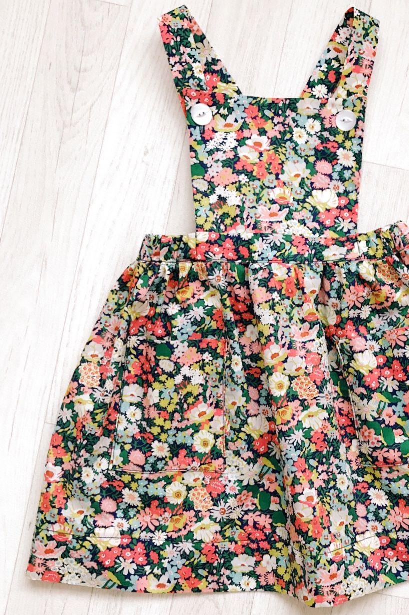 Handmade Liberty Print Pinafore Dress Handmadeclothingltd On Etsy Kids Fashion Dress Kids Outfits Girl Outfits