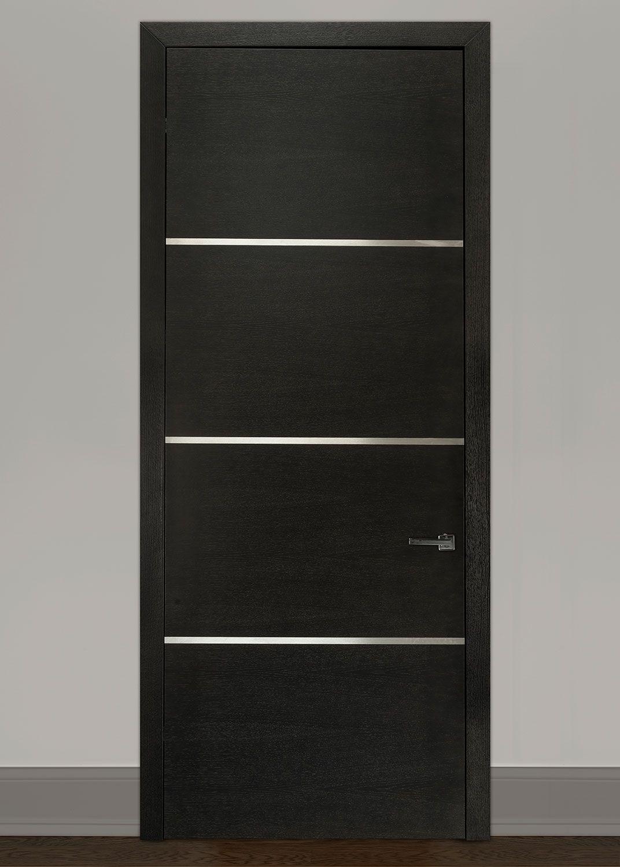 Modern Rift Cut Oak Solid Wood Front Entry Door   Single   GDIM SS4000