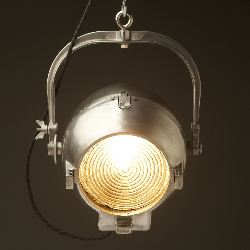 Vintage Restored Strand Patt 123 Theater Spotlight Theater Spotlight Restoration Ceramic Lamp