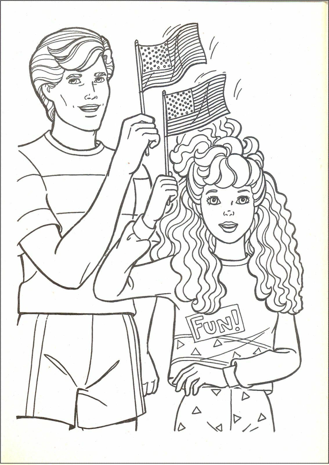 Barbie Coloring Page   1600x1134