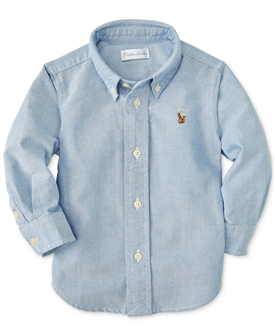 2a838a0b0 Ralph Lauren Baby Boys Solid Oxford Shirt | Products | Shirts, Boys ...