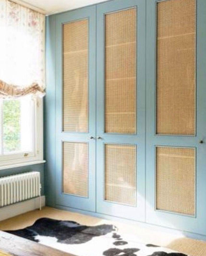 Cane Panel Closet Doors Matilda Goad Closet Doors Bedroom Cupboard Doors Guest Bedroom Remodel