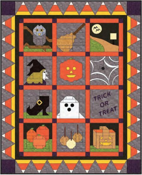 Trick-or-Treat Quilt-Along | Pattern pictures, Free pattern and ... : halloween quilt blocks - Adamdwight.com