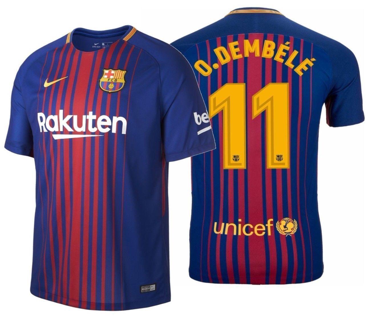 buy online 71b31 09e0e Nike ousmane dembele fc barcelona home jersey 2017/18 in ...