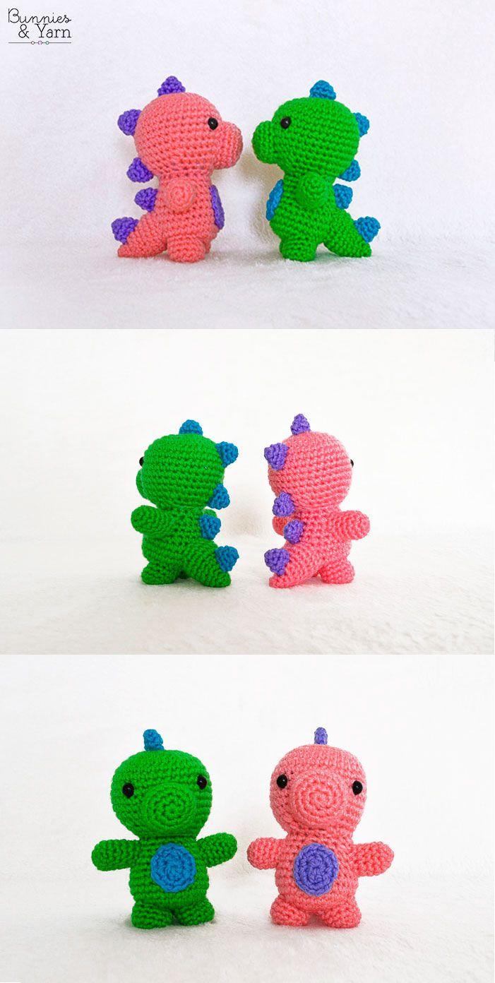 Crochet Pattern - Baby Dinosaur - Amigurumi | Crochet | Pinterest ...