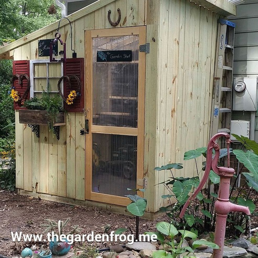 Diy garden shed from picket fence fences gardens and coops