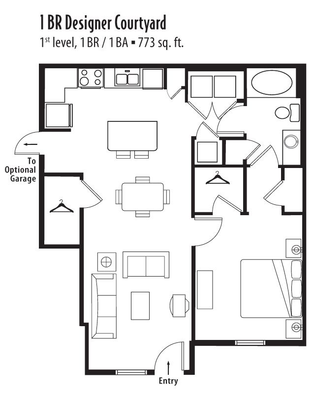 1 Bedroom, 1 Bath 773 Sf Apartment At Springs At Jordan