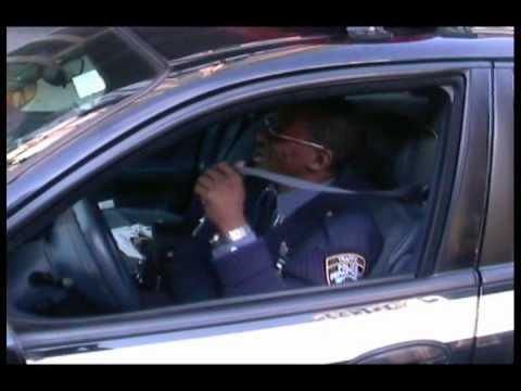 NYPD Traffic Enforcement Sergeant parks illegally - YouTube