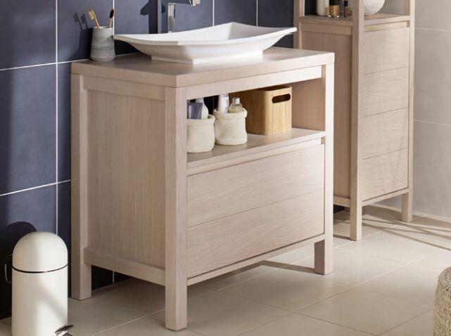 Petit Meuble En Bois Pour Petite Salle De Bains Lapeyre Deco30B3 - petit meuble salle de bain pas cher