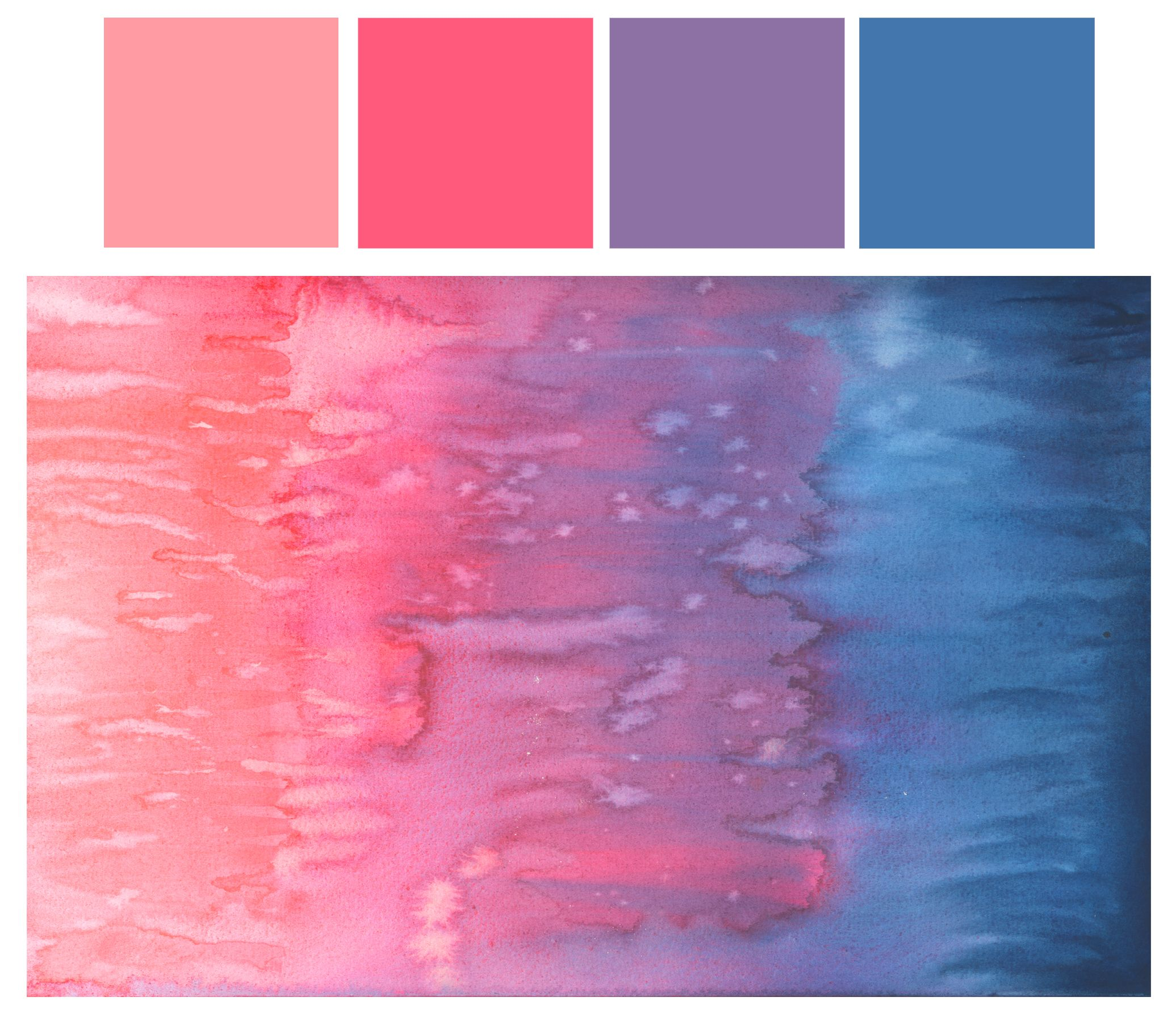 Watercolor Palette Summer Color Palettes Vintage Colour Palette