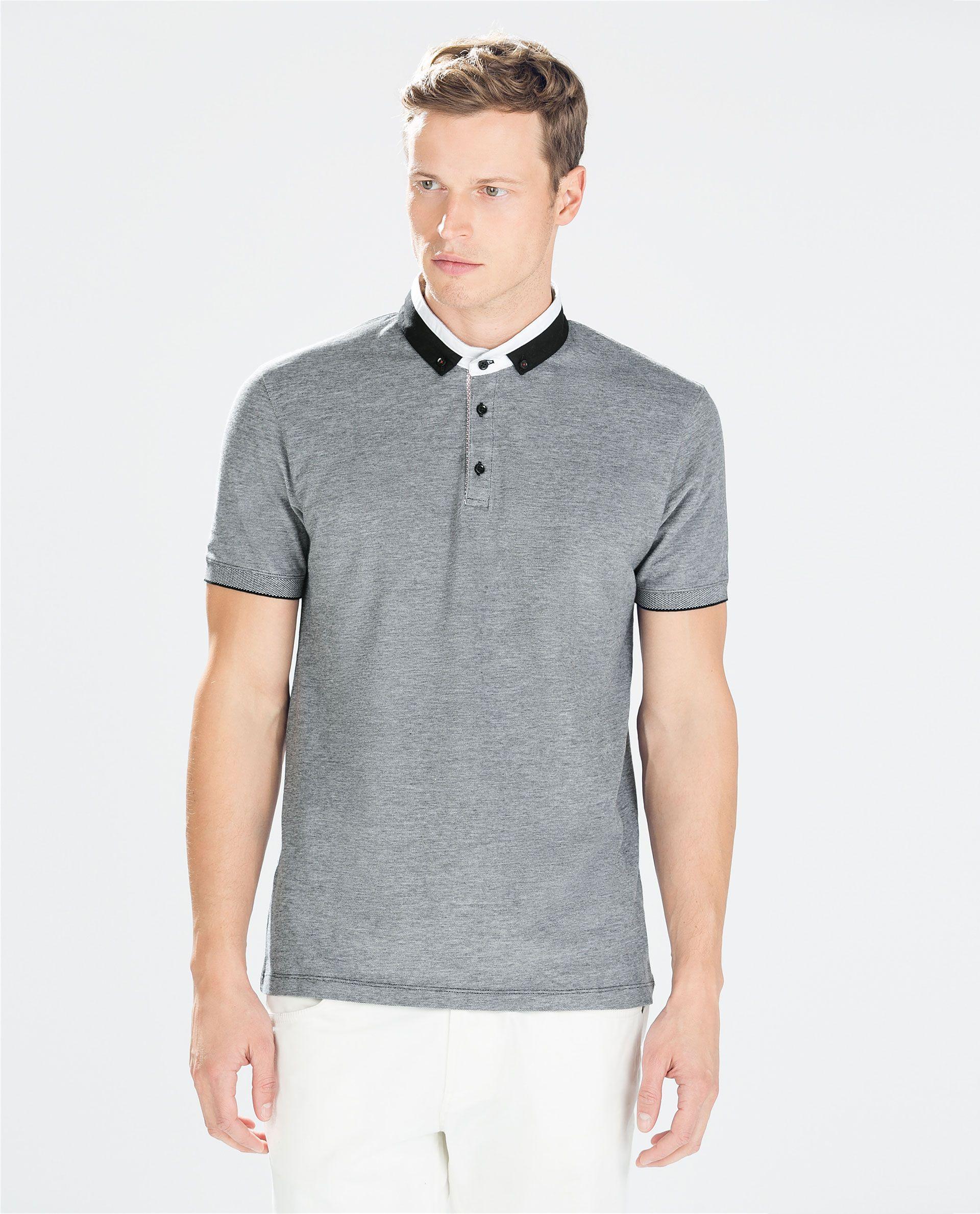 SHORT SLEEVE POLO SHIRT - Polo shirts - T - shirts - MAN | ZARA Turkey