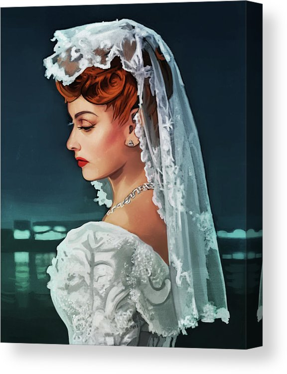 Lucille Ball Canvas Print / Canvas Art by Mary Jovino #lucilleball