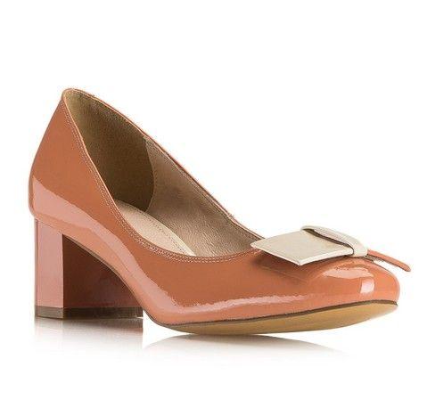 Czolenka Damskie Pudrowy Roz Ze Skory Lakierowanej Wittchen 80 D 542 Heels Shoes Peep Toe