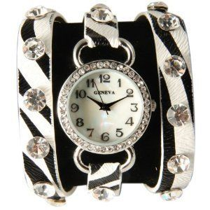 http://monetprintsgallery.com/black-white-zebra-wrap-around-watch-with-sparking-crystal-rhinestones-face-bling-p-4258.html
