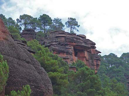 Formaciones rocosas del Parque Natural del Alto Tajo