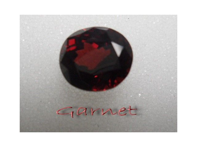 Garnet National gemstones 100%  4.30 ct. oval size 9*8*6 mm. strong red & purplish eye clean excellent faceted & shape flawless $25.00