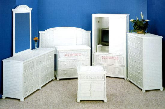 Seaside Rattan White Bedroom Suite From Summit Design White