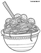 Spaghetti Coloring Page Food Coloring Pages Coloring Pages