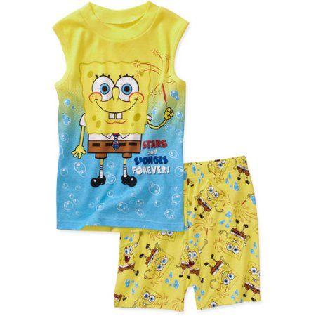 Nickelodeon Boys' Spongebob 2Piece Cotton Muscle Tee and