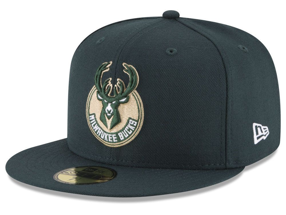 adcd4a62239e64 Milwaukee Bucks New Era NBA Solid Team 59FIFTY Cap | supah cap ...