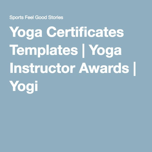 Yoga Certificates Templates Yoga Instructor Awards Yogi Yoga - certificates templates