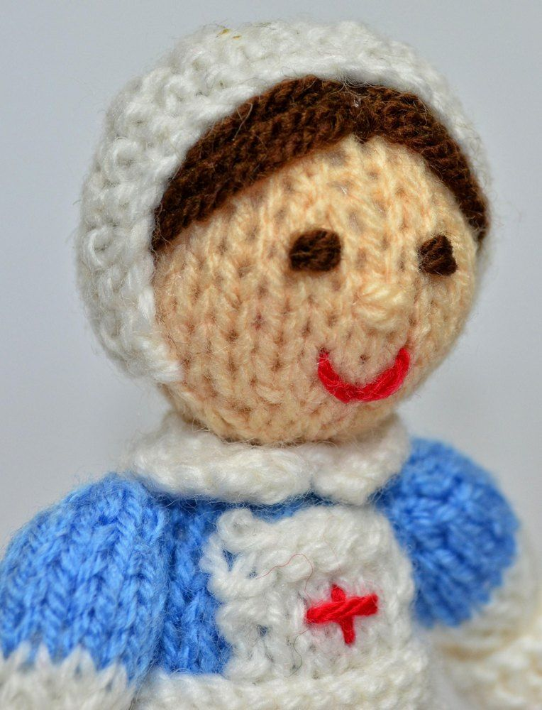 Ww1 Red Cross Nurse Doll Toy Knitting Pattern Red Cross Doll