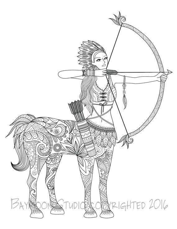 Centaur Coloring Page  0e3ca356d3