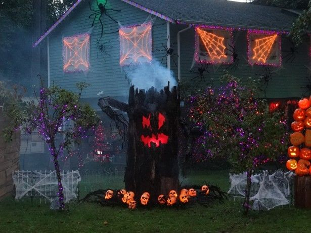 Fascinating outside decoration for halloween Exterior Design