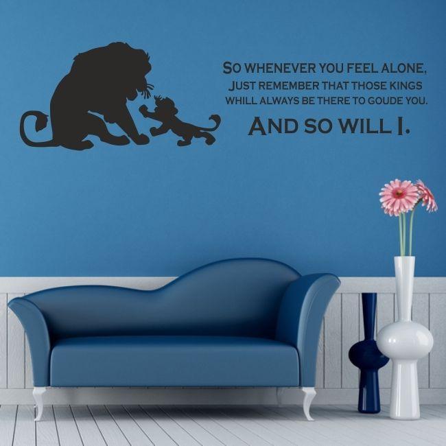 LION KING Wall Art Sticker Disney Kids Nursery Bedroom Decal Quote - Wall decals disney