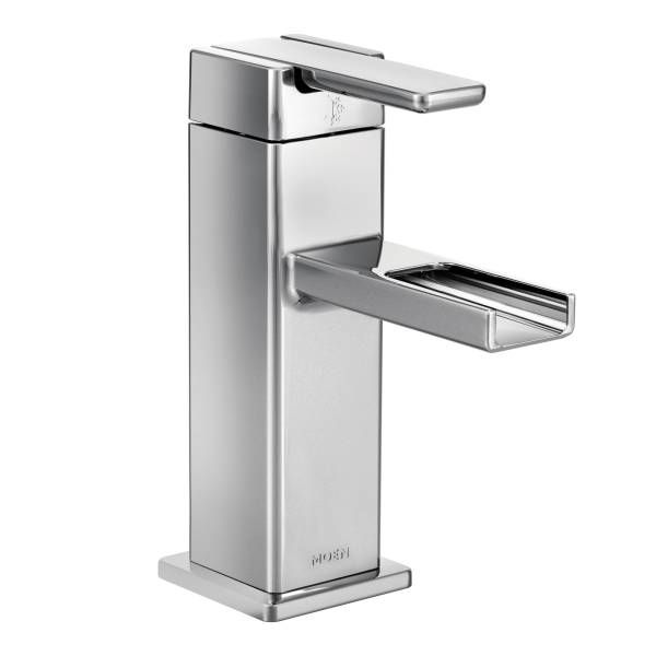 Sink faucet, Moen, 90 Degree, chrome finish, one-handle open ...