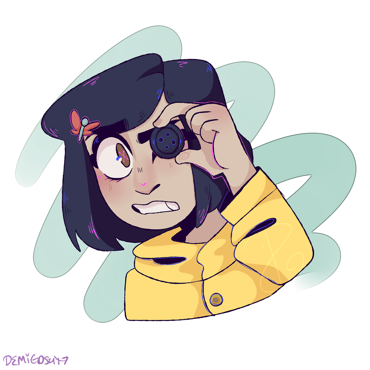 Coraline Stream Request You Can Use As An Icon As Long As You Rb Coraline Art Coraline Drawing Cartoon Art