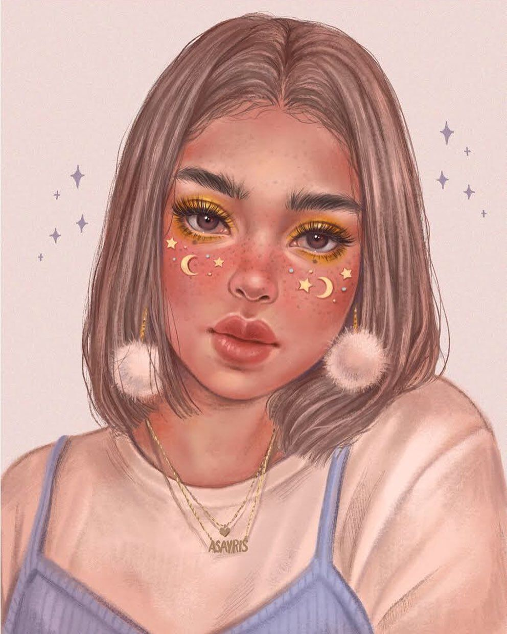 "a s a y r i s on Instagram: ""I don't know what to say, I love stars ✨ 💫 . #procreate #ipadart..."