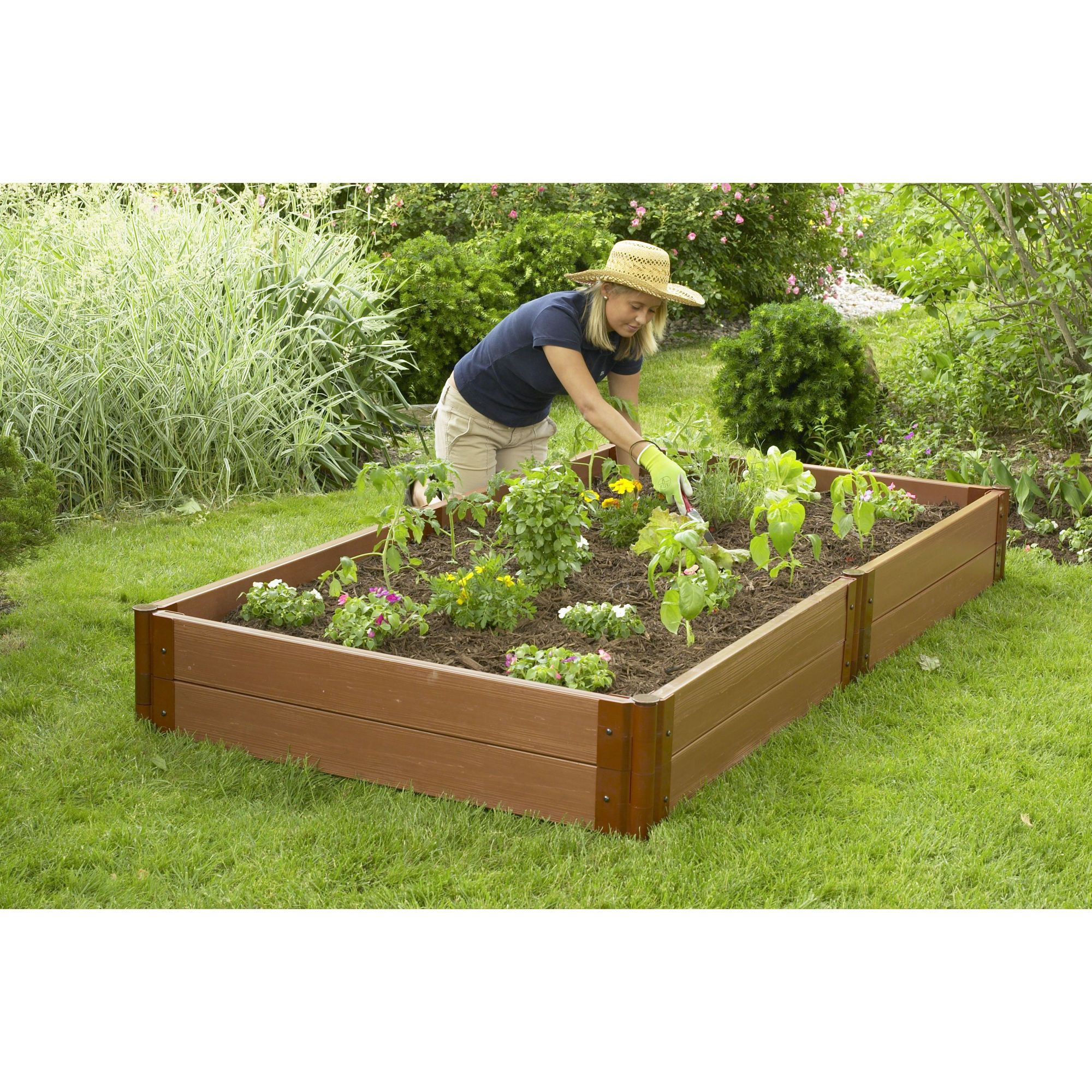 ToolFree Two Inch Series Recycled Plastic Raised Garden