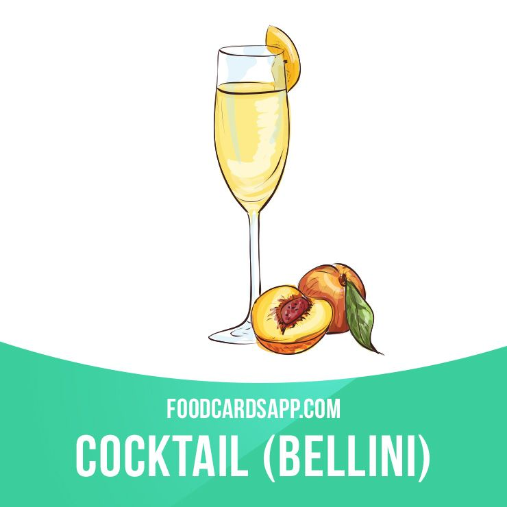 A Bellini Cocktail Is A Mixture Of Prosecco Sparkling Wine