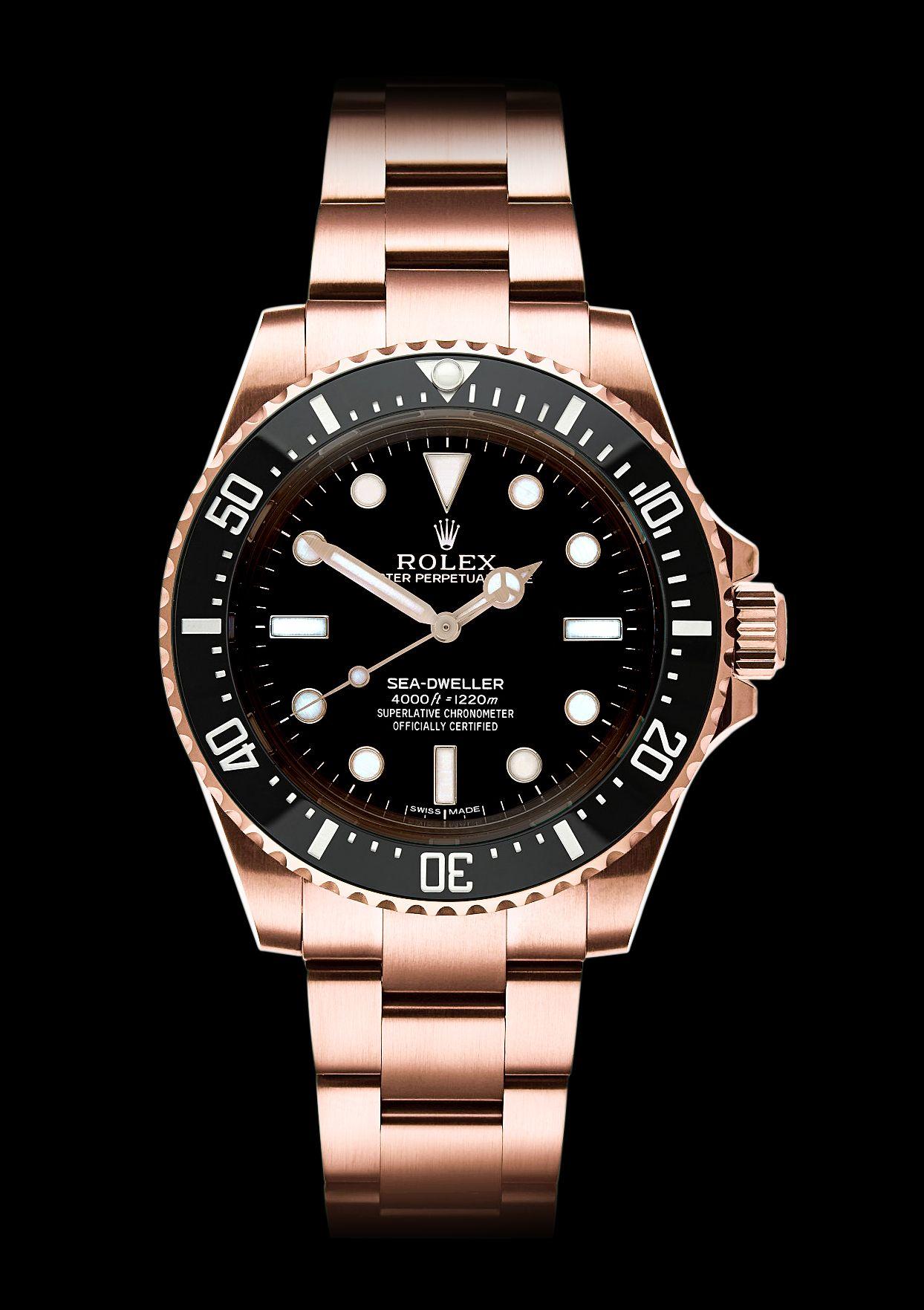 Rolex Sea,Dweller 4000, no date, Rose Gold. By designer