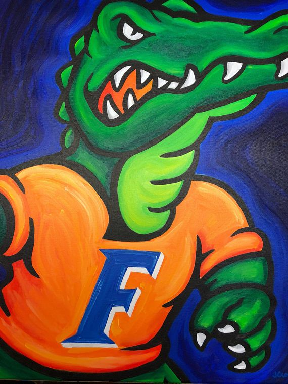 Florida Gators Painting Sports Art College Football Etsy Sports Art College Art Gallery Wrap Canvas