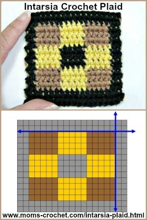 Intarsia Plaid Free Crochet Lesson On How To Create Your Own Plaid