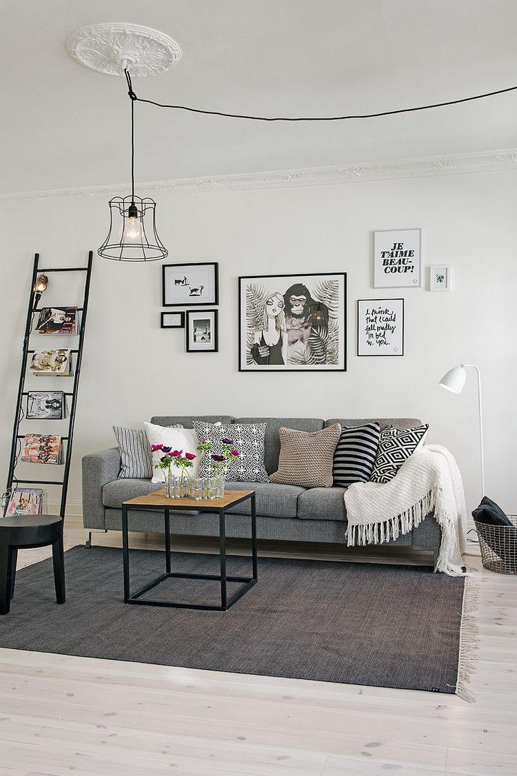 e90f810b7451 Skandináv lakásdekoráció ötletek - 63nm-es, kétszobás lakás | Home ...