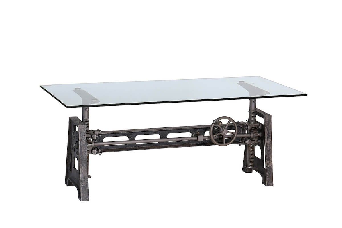 Industrial Adjustable Height Coffee Table