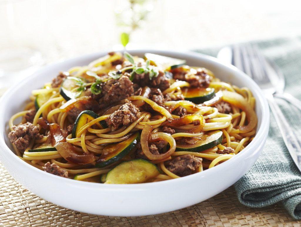 Spaghetti Au Boeuf Caramelise