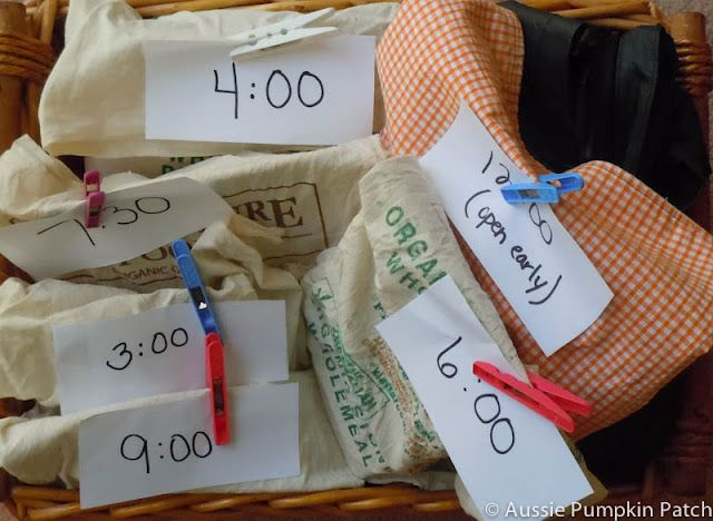Countdown bags- great idea for New Year's Eve.