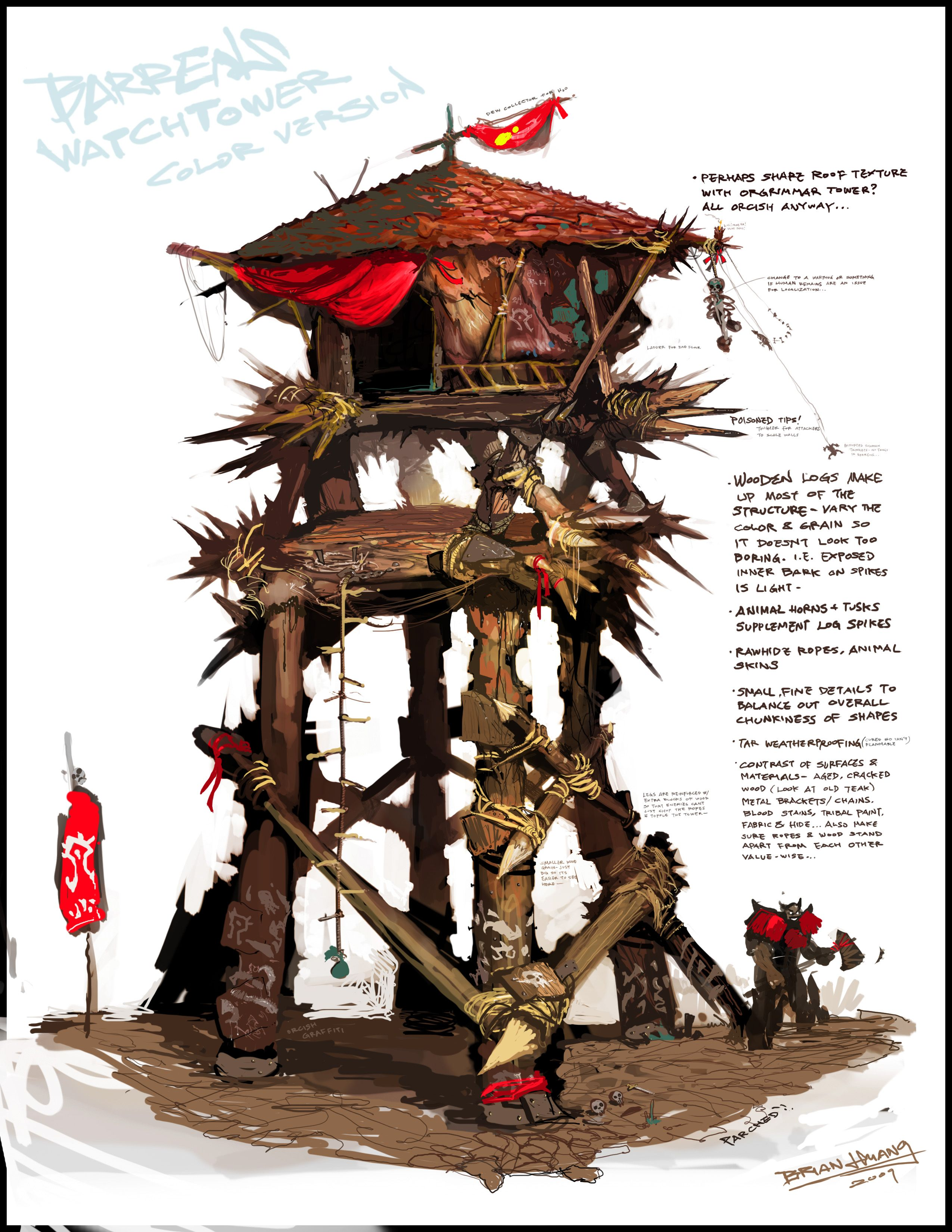 Orcish Battle Tower Used By Orc Trips To Survey Areas For Raiding