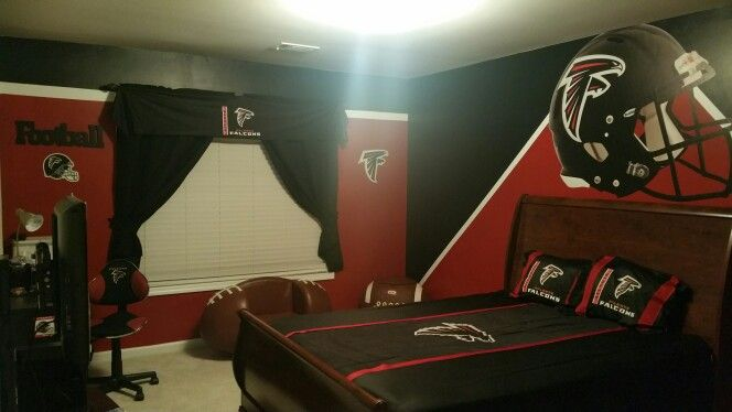 Atlanta Falcons Boys Bedroom Custom Painted By Me
