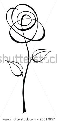 Abstract Flower Stock Vector Simple Flower Drawing