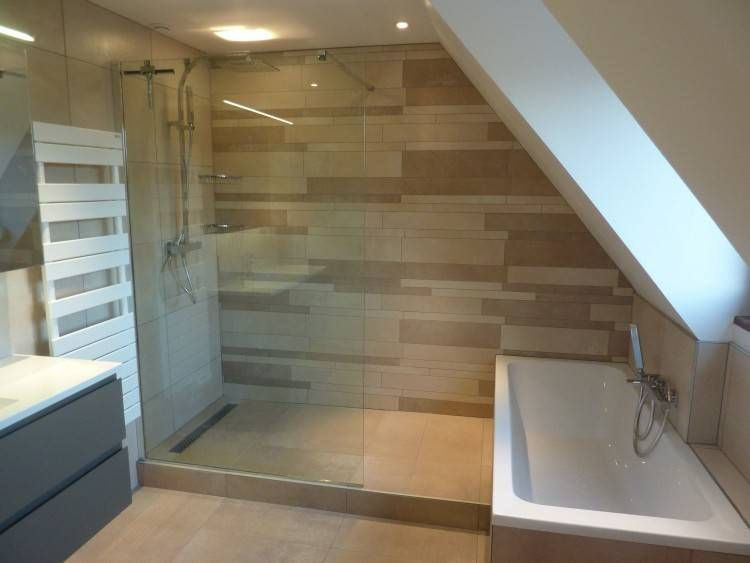 13+ Salle de bain sous comble avec baignoire inspirations