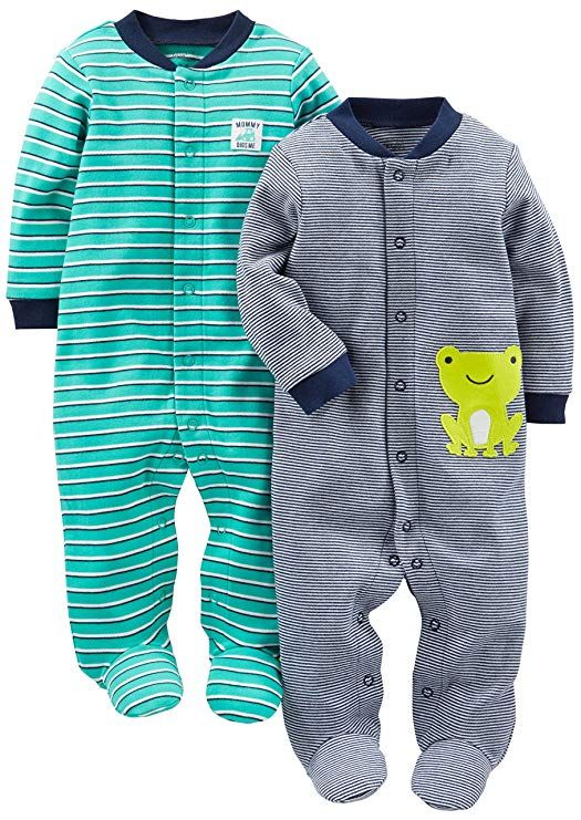 167de0ea7f52 Simple Joys by Carter s Baby Boys  2-Pack Cotton Footed Sleep and ...