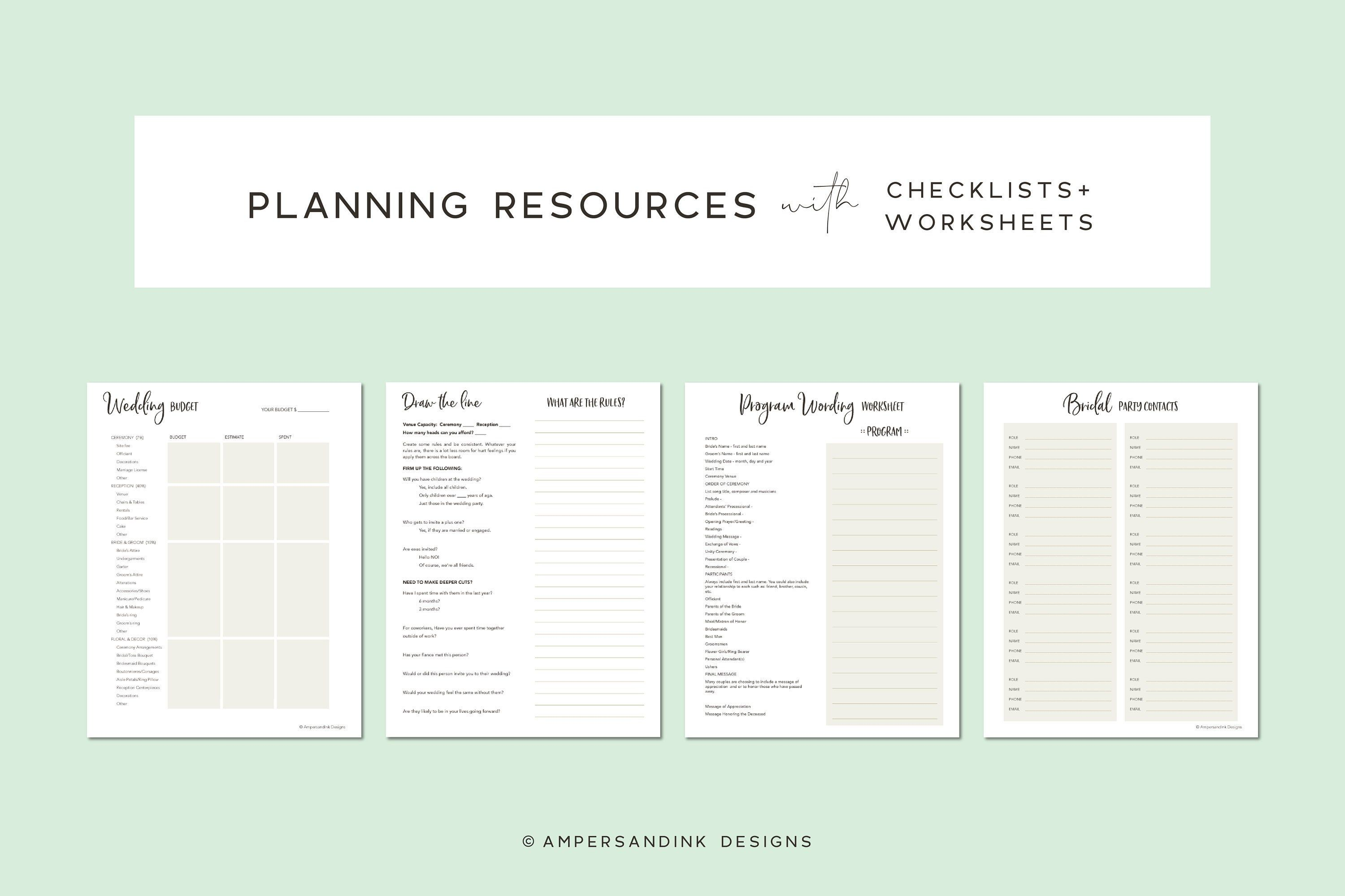 Wedding Planning Resources