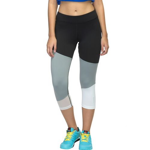 The stylish and cool Reebok Studio Edition Dance F capri for women. Made with PLAYDRY which wicks moisture away from your skin helping you stay drier and more comfortable while you run. Elasticated waist and single Drawcord provides a secure fitting, while the 'Reebok' logo on the bottom of the left leg adds the signature style to the apparel.