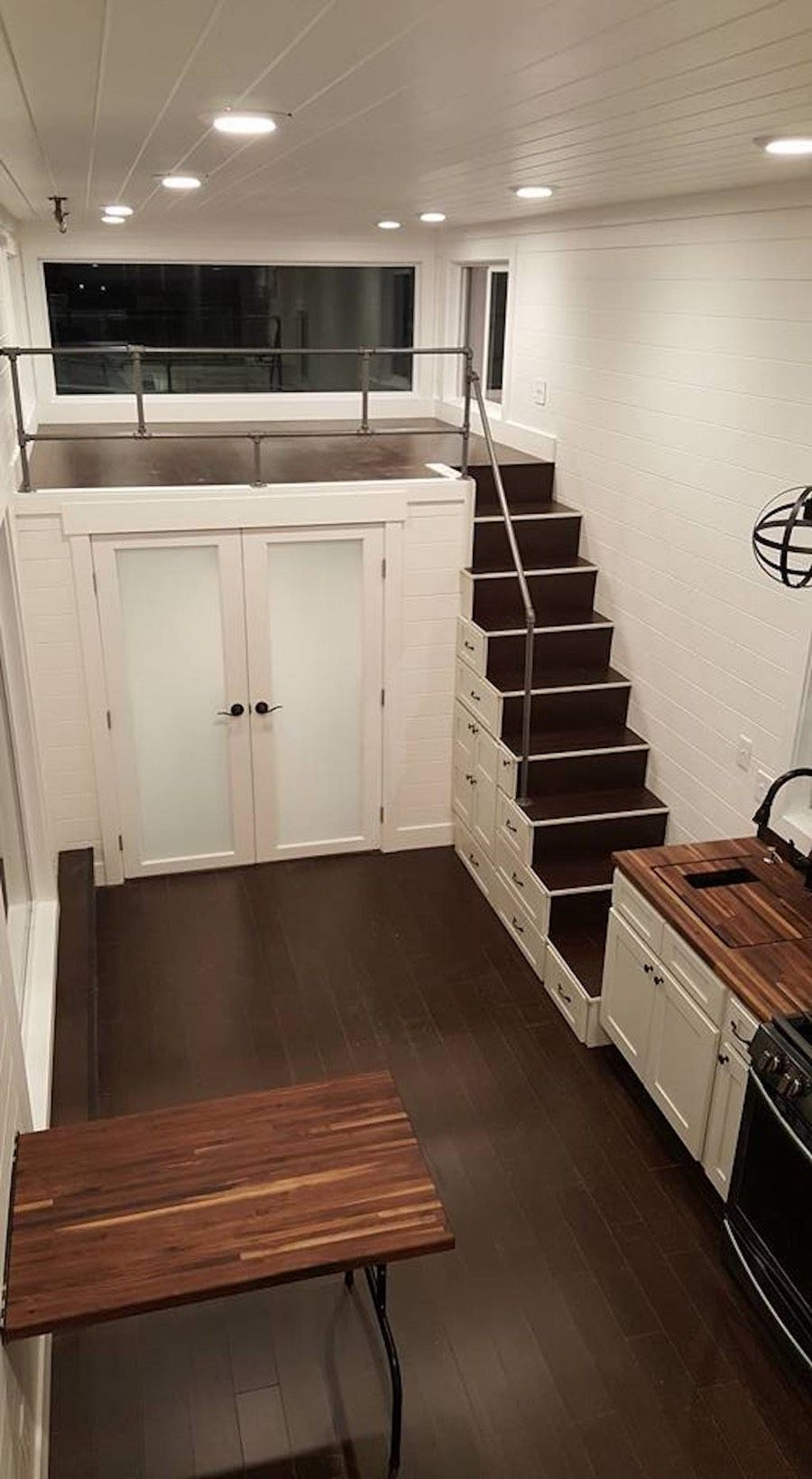 Ventana Tiny House W Downstairs Bedroom Loft Bedroom