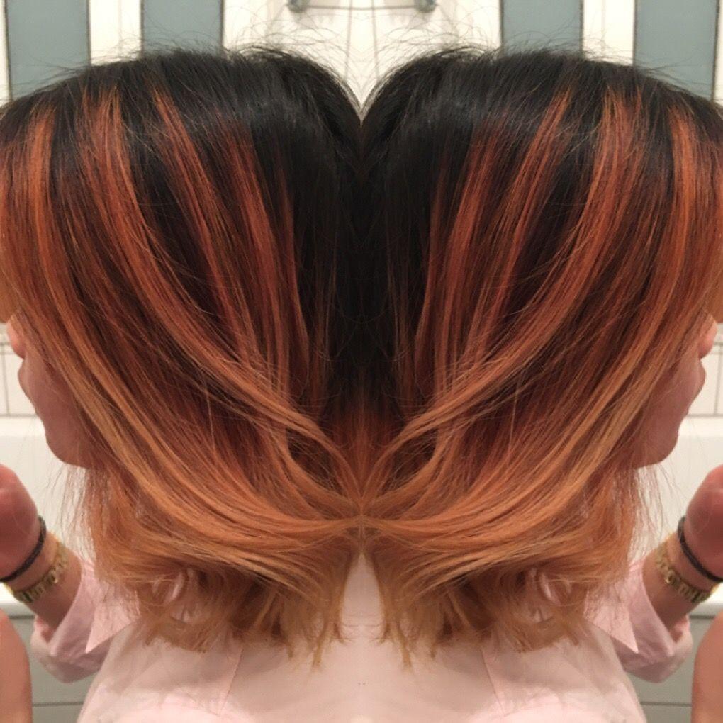 balayage rot blond weiche verlaufen schwarz ansatz haarfarben rotblond haarfarben und balayage. Black Bedroom Furniture Sets. Home Design Ideas
